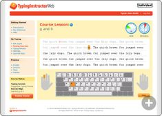 Typing Lessons with Real-Time Feedback.