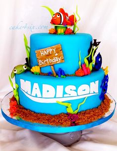 AMAZING Nemo Cake - www.cake4six.com  |  #disney #nemo #birthday #cake