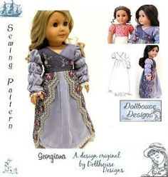 Regency sewing pattern DollhouseDesign's Pattern  for American GIrl Dolls | Support Inspiration. Buy Indie. girl pattern, doll pattern, american girl, sewing patterns