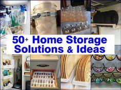 Kitchen Storage Ideas Tension Rods Under the Sink  Overhead Storage  Egg Crate Drawer Organizer  Maximized Spice Storage  Magazine Racks  Organ