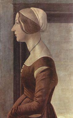 Ritratto di giovane donna by Sandro Botticelli ca. 1475