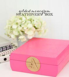 DIY Monogram Stationery Box