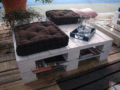 Mesa de playa de palet