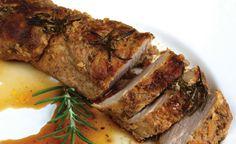 Recipe for Health: Grilled Pork Tenderloin With Herbs &Maple dinner, pork roast, brown sugar, roast recipes, olive oils, pork tenderloin recipes, food, greek recipes, oven roasted potatoes