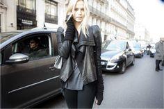 black leather jacket, fashion, beauty, style