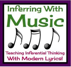 teaching middle school english, stylish teacher, inferring with music, worksheet, music common core, teach infer, music educ, teach idea, music classroom