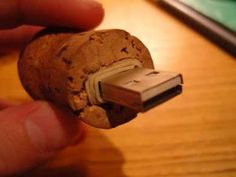 Champagne or Wine Cork Flash Drive Holder. Don't buy it, make your own!