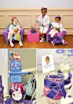 doc mcstuffins birthday party ideas | Pink and Purple Doc McStuffins Party // Hostess with the Mostess® birthday parties, doc mcstuffin party, birthday idea, 3rd birthday, parti idea, doc mcstuffin birthday, mcstuffin parti, purpl doc, birthday decorations