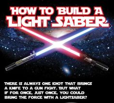 Unleash Your Jedi with This DIY Star Wars Lightsaber Chart Tutorial #geeky trendhunter.com