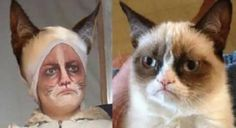 grumpy cat for halloween! makeup tutorial. #hahaha