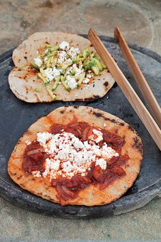 Flatbreads with Two Toppings (Laganes) | SAVEUR