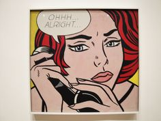 OHHH...ALRIGHT..., 1964. Roy Lichtenstein Art Exhibition currently displayed at The Art Institute of Chicago.