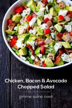 Chicken,bacon,avocado salad
