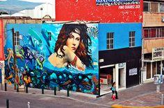 Graffiti  Mi bella dama del centro de León Guanajuato @jcvillagomez