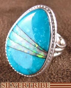 opal/ turquoise ring