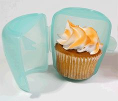 Cup-a-Cake Cupcake Holders     A fun new product which we discovered recently from the USA is the Cup-a-Cake. Cup-a-Cakes are specially designed plastic containers for transporting individual cupcakes.    Each Cup-a-Cake fits one cupcake or small muffin, and they really do come in handy. They are perfect for school lunches, no longer will your perfect cupcake be ruined or squished, and the containers are nice and strong so they will survive in your child's bag.    The containers are air tight, which means your cake will remain fresh and delicious. Not just limited to the kids, you can pop one in your handbag for morning tea at work.          A fun new product which we discovered recently from the USA is the Cup-a-Cake. Cup-a-Cakes are specially designed plastic containers for transporting individual cupcakes.    Each Cup-a-Cake fits one cupcake or small muffin, and they really do come in handy. They are perfect for school lunches, no longer will your perfect cupcake be ruined or squished, and the containers are nice and strong so they will survive in your child's bag.    The containers are air tight, which means your cake will remain fresh and delicious. Not just limited to the kids, you can pop one in your handbag for morning tea at work.