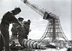 on the set of Mothra (1961) - special effects director Tsuburaya Eiji