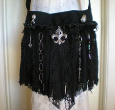 gothic purse, fring purs, gothic bags, gypsi fring