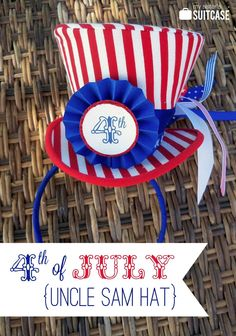 Uncle Sam hat and 4th of July printable tags! {My Sister's Suitcase} #4thofjuly #printable