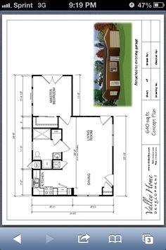Small house floor plan.