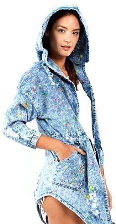 Paint Splatter Hoodie Denim Jacket More