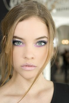 beautiful eye makeup for blue eyes purple and orchid