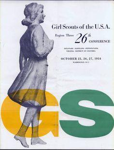 Alvin Lustig 1954 Girl Scout Convention Program