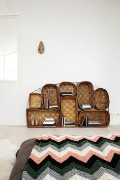 Basket shelving unit