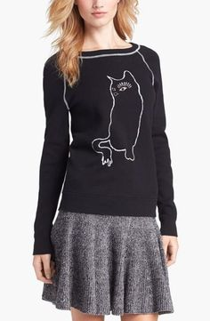 Stylish cat lady. MARC BY MARC JACOBS cat sweater.