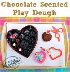 No Cook Chocolate Scented Playdough Recipe - Easy to make, and so much fun! #kids