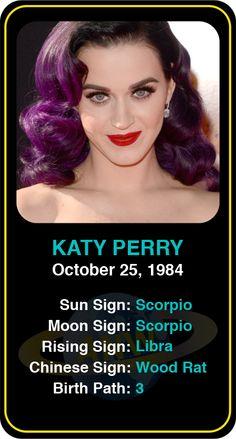 Celeb #Scorpio birthdays: Katy Perry's astrology info! Sign up here to see more: https://www.astroconnects.com/galleries/celeb-birthday-gallery/scorpio #astrology #horoscope #zodiac #birthchart #natalchart #katyperry