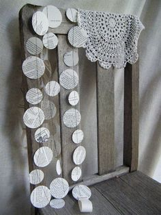 Circle garland - another perfect banner idea. Simple decor to fill the outside space around our tea party creating an intimate feel for the one year olds.
