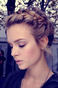 Cute braid into bun