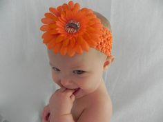 Cincinnati Bengals Inspired Flower Clip by AddisonAveBoutique, $6.50