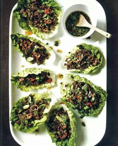 Gordon Ramsey recipe. Beef and lettuce wraps. Looks good