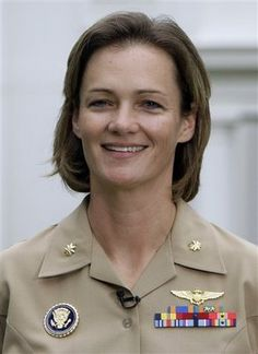 MAJ Jennifer Grieves, the first woman to pilot Marine One, the POTUS' helicopter.