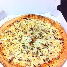 Mushroom pizza.