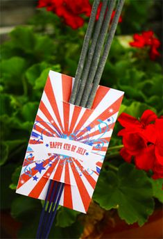 Printable Sparkler Tags for 4th of July Party Favors