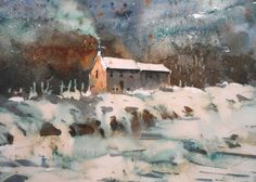 This fantastic image was painted using Brusho and bleach - yes bleach! Paint along with Joanne in her new book and DVD. Find out more at BrushoSecrets.com