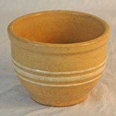 Yellow-ware bowl.
