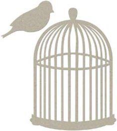 Fabscrap Chipboard Mini Bird Cage Die Cut