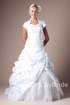 Modest Wedding Dress, Brighton   LatterDayBride & Prom. Modest Mormon LDS Temple Dress