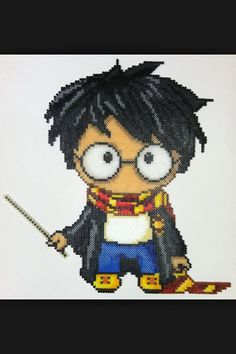 Harry Potter anime perler beads by PlanetPixel