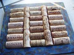wine cork trivet design