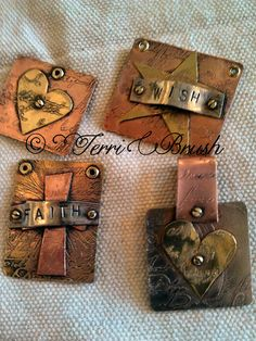 Etching metal and learning Soldering all in by TerriBrushDesigns