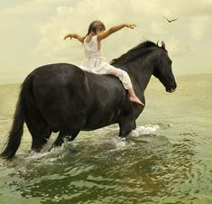 """There is a quote... """"All horses deserve at one point in their lives to be loved by a little girl."""""""