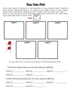 FREEBIE Place Value game