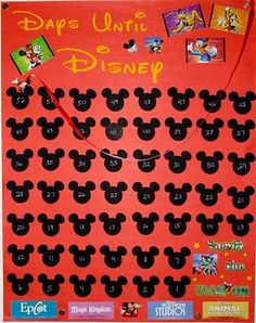 Disney countdown poster