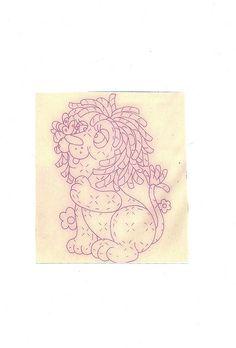 baby quilt - lion