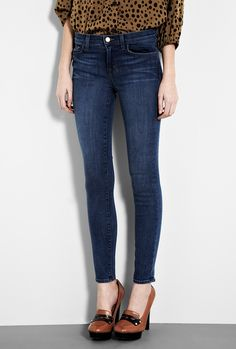 J Brand Mid Rise Skinny. These are just the best skinnies I've ever worn in my life. They make everyone's arse look great.
